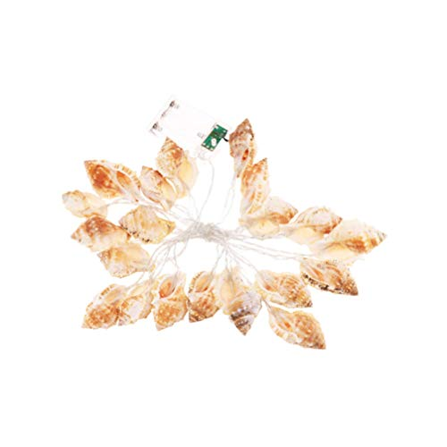 PRETYZOOM Conch String Lights LED Fairy String Lights Ocean Conch Beach Themed Party Lights for Wedding Party Nautical Hawaii Decoration Easter Supplies (3M Without Battery)