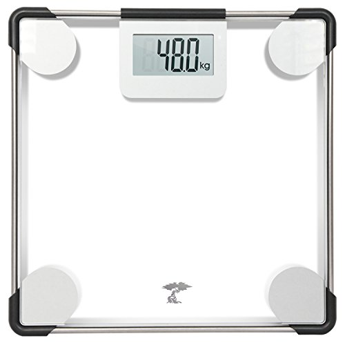ToiletTree Products Digital Clear Glass Bathroom Scale 400 Lbs Capacity