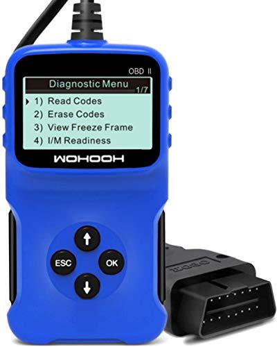 WOHOOH Obd2 Diagnosegerät, Vcds Auslesegerät Auto OBD II Carly Adapter,OBD Code Scanner für Allen Autos mit OBD2 / EOBD/CAN-Modi und 16-Pin OBDII-Schnittstelle,Unterstützung für 5 Sprachen