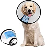 Dog Cone Adjustable Pet Cone Pet Recovery Collar Comfy Pet Cone Collar Protective Collar for After Surgery Anti-Bite Lick Wound Healing Safety Practical Plastic E-Collar for Dogs and Cats