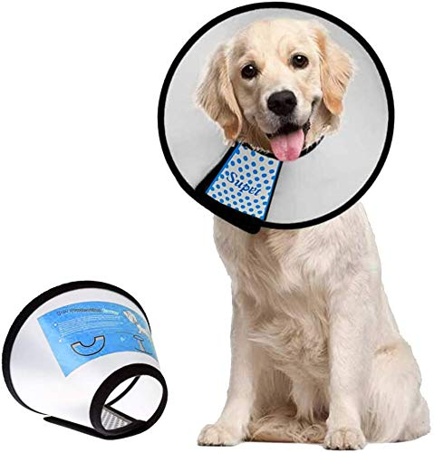 Dog Cone Adjustable Pet Cone Pet Recovery Collar Comfy Pet Cone Collar Protective Collar for After Surgery Anti-Bite Lick Wound Healing Safety...