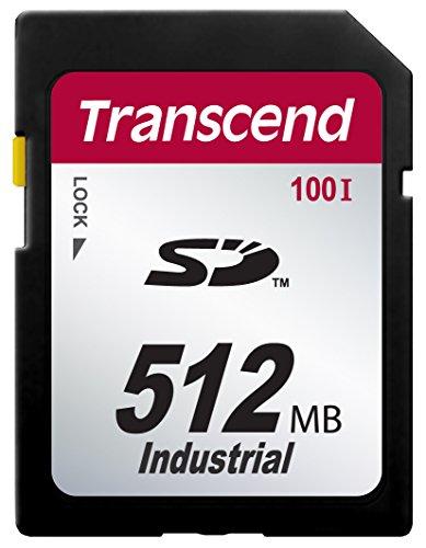 Transcend 512MB SD100I Memoria Flash 0,512 GB SD SLC - Tarjeta de Memoria (0,512 GB, SD, SLC, 17 MB/s, Negro)