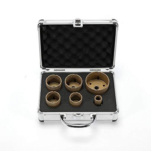 Juego de 6 brocas de diamante profesionales para azulejos y herramientas M14 para vacío (20/35/40/45/50/68 mm)