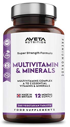 Multivitamins & Minerals Super Strength Formula | 365 Tablets 1 Year Supply) | 26 Multivitamins and Minerals for Men and Women | Multivitamin Tablets