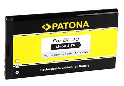 Batteria BL-4U | BL4U per Nokia 5530 | 5530 XpressMusic | 3120 Classic | 6212 Classic | 6216 Classic | 6600 Slide | 8800 Arte | 8800 Carbon Arte | 8800 Gold Arte | 8800 Sapphire Arte | 8900 | Asha 300 | C5-03 500 | E66 | E66 | E75 e più… [ Li-ion, 1200mAh, 3.7V ]