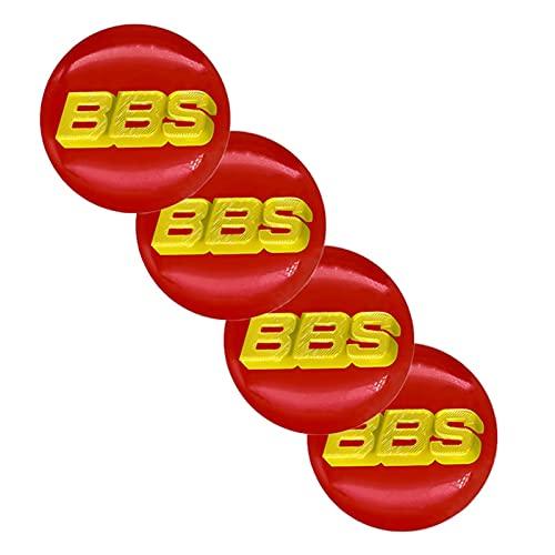RHGEIUCY 4 unids 65mm Cajas del Centro de la Rueda del automóvil Caps Emblema Pegatinas para los Accesorios para automóviles BBS-Logo, Pegatinas de Cubierta del Cubo Modificado