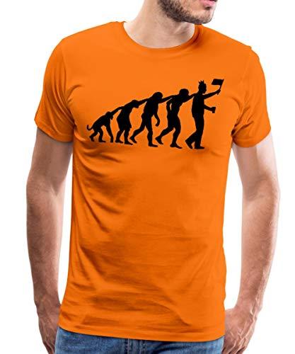Spreadshirt Evolutie Koningsdag King's Day Mannen Premium T-shirt