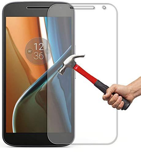 IM@X Protector DE Pantalla Premium Cristal Vidrio Templado 9H para Motorola Moto...