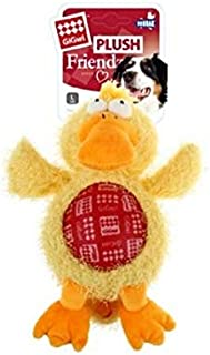 Gigwi Plush Friends Duck Squeaker Dog Toy