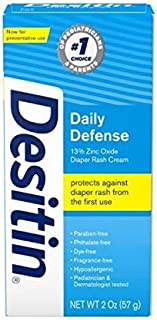 Desitin Rapid Relief Creamy Zinc Oxide Diaper Rash Cream, 2 Count
