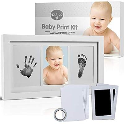 Kit de impresión huellas mano y pie bebé con caja regalo-regalos originales para bebes recien nacidos-bebe cosas nacidos huella regalo marco regalos decorar tu habitacion