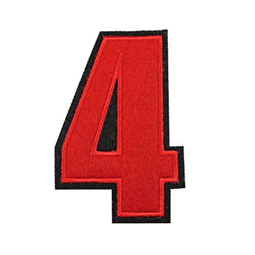 Parches números bordados 0–9 aplicar plancha