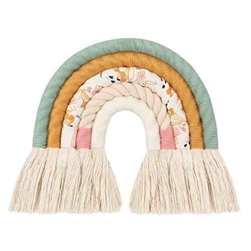 Hergon - Tapiz de pared, diseño de arcoíris, hecho a mano, para habitación infantil