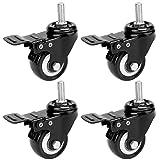 Aceshin Folding Electric Treadmill Swivel Caster Wheels with Swivel Lock Kit