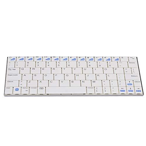 Ultradun draadloos metalen toetsenbord, Mini 68 KEY Ergonomische Keycaps voor IOS voor Android voor Windows, continu gebruik 50 uur Bluetooth-toetsenbord voor laptops / computers