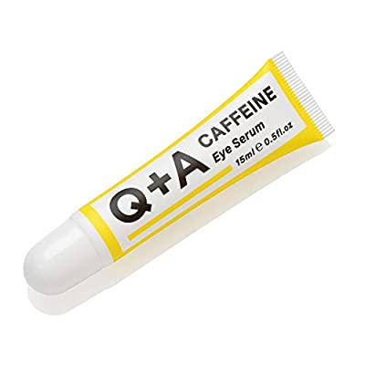 Q+A Caffeine Eye Serum. An eye serum to boost circulation and de-puff the under eye area. 15ml/0.5fl.oz