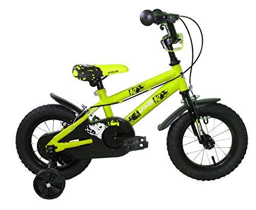 Ümit Bicicleta 12' APOLON, Juventud Unisex, Verde Pistacho, Mediano