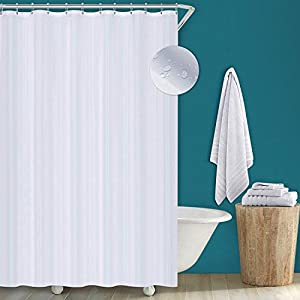 Utopia Home Cortina De Ducha - Cortinas De Baño – Blanco – Impermeable y Resistente al Moho (180 x 200 cm)