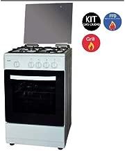 Svan Cocina 4 Fuegos con Horno Elã©Ctrico 4 Funciones, Blanca
