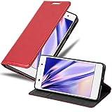 Cadorabo Funda Libro para Sony Xperia E5 en Rojo Manzana - Cubierta Proteccíon con Cierre Magnético, Tarjetero y Función de Suporte - Etui Case Cover Carcasa