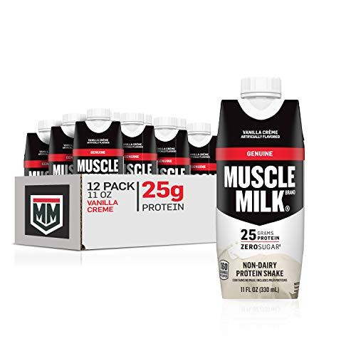 Muscle Milk Genuine Protein Shake, Vanilla Creme, 25g Protein, 11 Fl Oz, 12 Pack