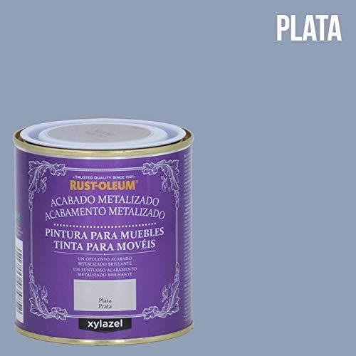 PINTURA PARA MUEBLES CHALKY METALIZADA PLATA 500ML