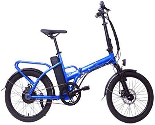 Leifeng Tower Bicicletas eléctricas de alta velocidad de 20 pulgadas, 36V10.4A batería de litio extraíble plegable bicicleta de 250 W motor de doble disco freno City Bike hombres mujeres (color: azul)