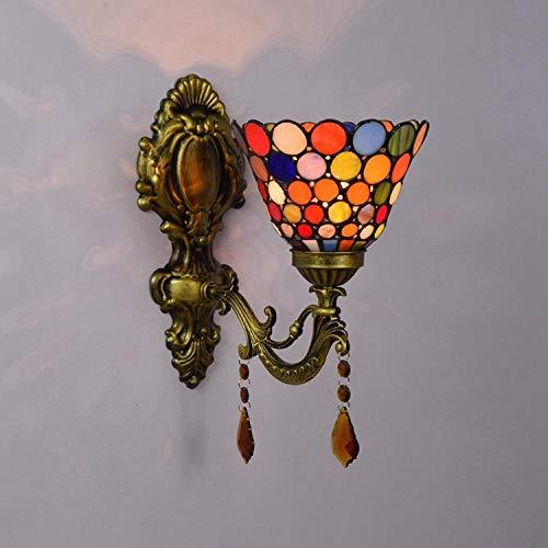 Nachtkastje kristallen lamp_European Tiffany kleur woonkamer eetkamer lamp badlamp spiegellamp slaapkamer bedlampje kristallen lamp
