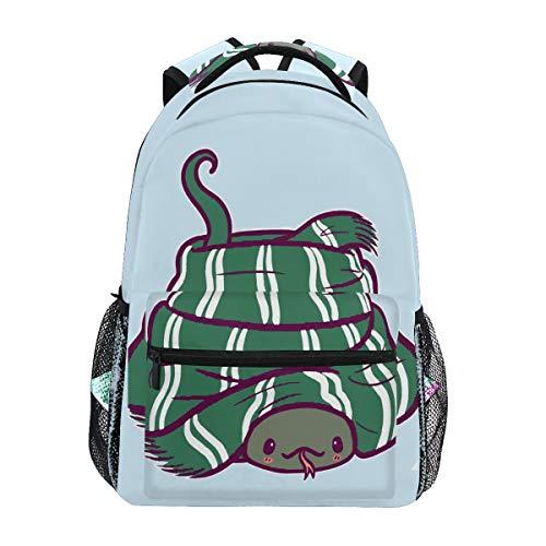 Mochila de Viaje Doshine, Divertida y Bonita Serpiente de Animales, para el Hombro, para la Escuela, para Hombres, Mujeres, niños y niñas