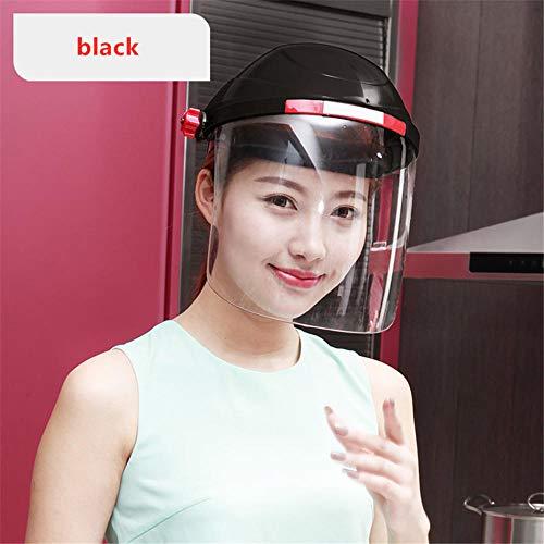 LMWB gezichtsbescherming, volledig herbruikbaar, verstelbaar, beschermt ogen en gezicht, bescherming tegen spatten en spatten, transparante film.  Blanco Y Gris