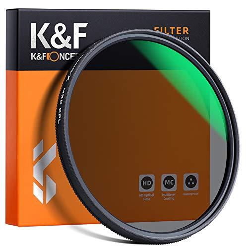 K&F Concept 77mm HD Polarizzatore Circolare Filtro Resistente ai Graffi Filtro CPL Impermeabile Multistrato per Canon Nikon Sony Obiettivo DSLR Filtro di Protezione in Vetro Ottico Schott German
