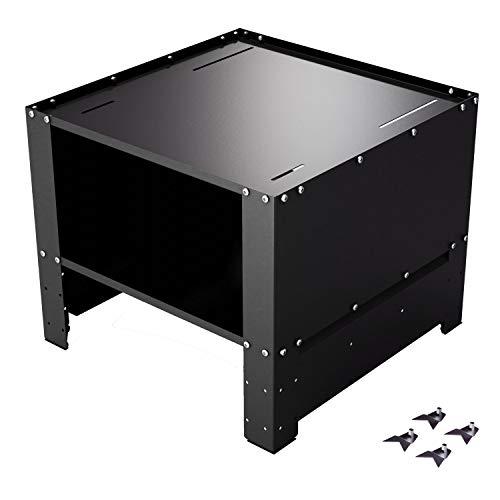Magnet LTD Waschmaschinenuntergestell | 61 x 61cm | kompatibel auch mit Trockner und Kühlschränken | stabiler Unterbausockel mit höhenverstellbarem Bodenfach | robuste Konstruktion (WP-2) schwarz