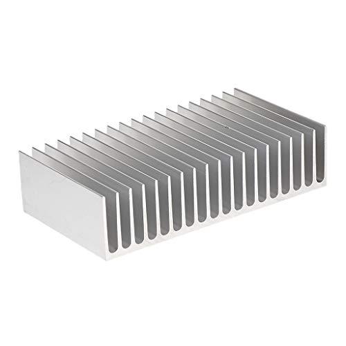 petsola Radiador de Aluminio del Disipador de Calor 100x182x45mm para 100W LED IC CPU GPU