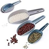 Smavles Cuchara Harina 6 Piezas Cuchara Comida Pala Plastico Hielo,para Alimentos en Polvo y Secos,Golosinas,Palomitas de Maíz, Granos de Café y Alimentos para Mascotas