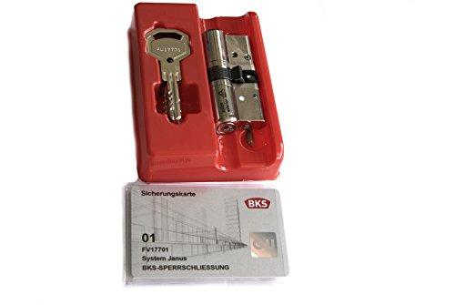 BKS 461200150001 Profilzylinder 46120026 N, mit GF, BL 31/31 mm, SI-Karte, 5 Wendeschlüssel