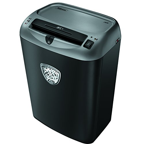 Fellowes Powershred 70S 14-Sheet Strip-Cut Paper and Credit Card Shredder with SafetyLock (4671001),Black/gray