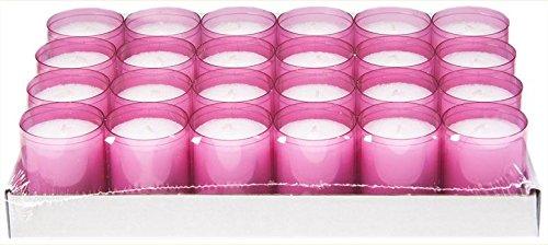 Sovie Refill Kerzen 24 rosa Teelichter mit extra Langer Brenndauer (24h) für Feiern/Party/Gastronomie