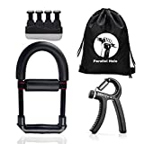 Parallel Halo Hand Strengtheners 3 Pack Wrist Exerciser Arm Grip Workout Forearm Strengthener Finger...