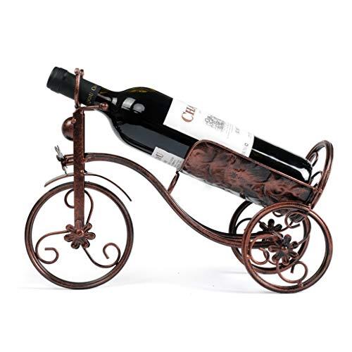 Goede decoratie Mode Smeedijzer Fiets Wijnrek - Creatieve Wijn Fles Houder Thuis Desktop Rode Wijn Rek Venster Metalen Display Plank Thuis Meubels BRON
