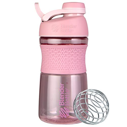 BlenderBottle SportMixer Shaker Bottle Perfect for Protein Shakes and Pre Workout, 20-Ounce, Rose