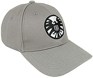 yacn Captain Marvel Hat Grey Cap Embroidery Shield Carol Susan Jane Danvers Cosplay