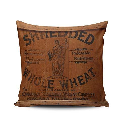 WSMBDXHJ Fundas de cojín vintage de madera para cajas de envío, fotos industriales, elegantes, 45,7 x 45,7 cm, fundas de almohada para sofá de sala de estar
