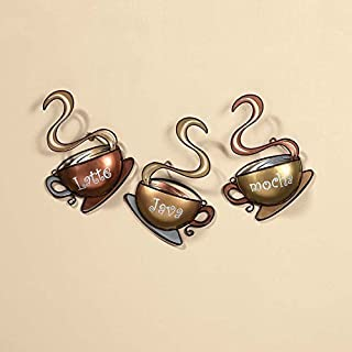 OTC Coffee House Cup Mug Latte Java Mocha Metal Wall Art Home Decor (1, Design 1)