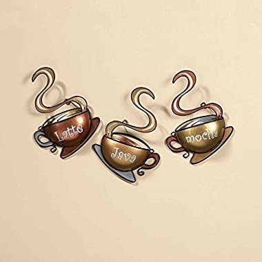 Coffee House Cup Mug Latte Java Mocha Metal Wall Art Home Decor (1, DESIGN 1)