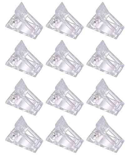 12Pcs Pince à Ongles Clip Ongle Bâtiment Rapide Conseils pour Polygel Gel Manucure
