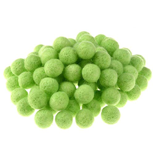 "JUNKE 100 PCS Wool Felt Balls Handmade Wool Balls Beads Embellishments for Manual Craft DIY Making, 20MM (0.78"")"