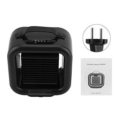 Jadpes Heimheizgerät tragbar mit Griff, Household Mini PTC Ceramics Heizgerät Wärmer Warmlüfter Maschine Schreibtisch-Heizlüfter mit Tragegriff für das Schlafzimmer im Büro(EU)