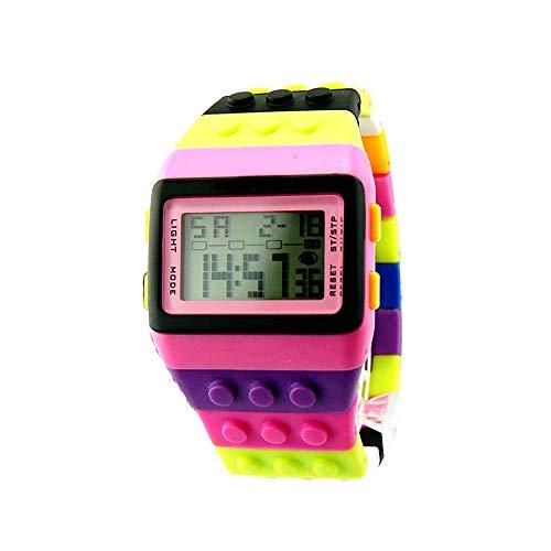 LiuQ Reloj para Niña Colorida electrónica del Arco Iris LED Relojes Digitales de Pulsera Digital de los niños del Reloj de Las Muchachas de los Relojes de Pulsera Deportes de los niños Ajustable