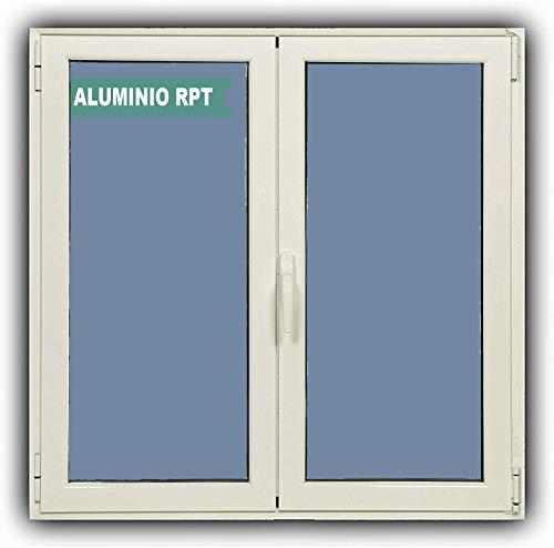 Ventanastock Ventana Aluminio RPT 45 Practicable Oscilobatiente 1200X1000 2 hojas con climalit