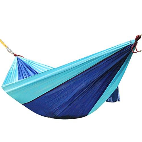 Hamacs Tapis d'atterrissage extérieur Suspendus Feuilles Ultra léger Portable Camping Swing Plage Adulte Jardin et Patio (Color : Blue, Size : 230 * 90cm/90.6 * 35.4inch)